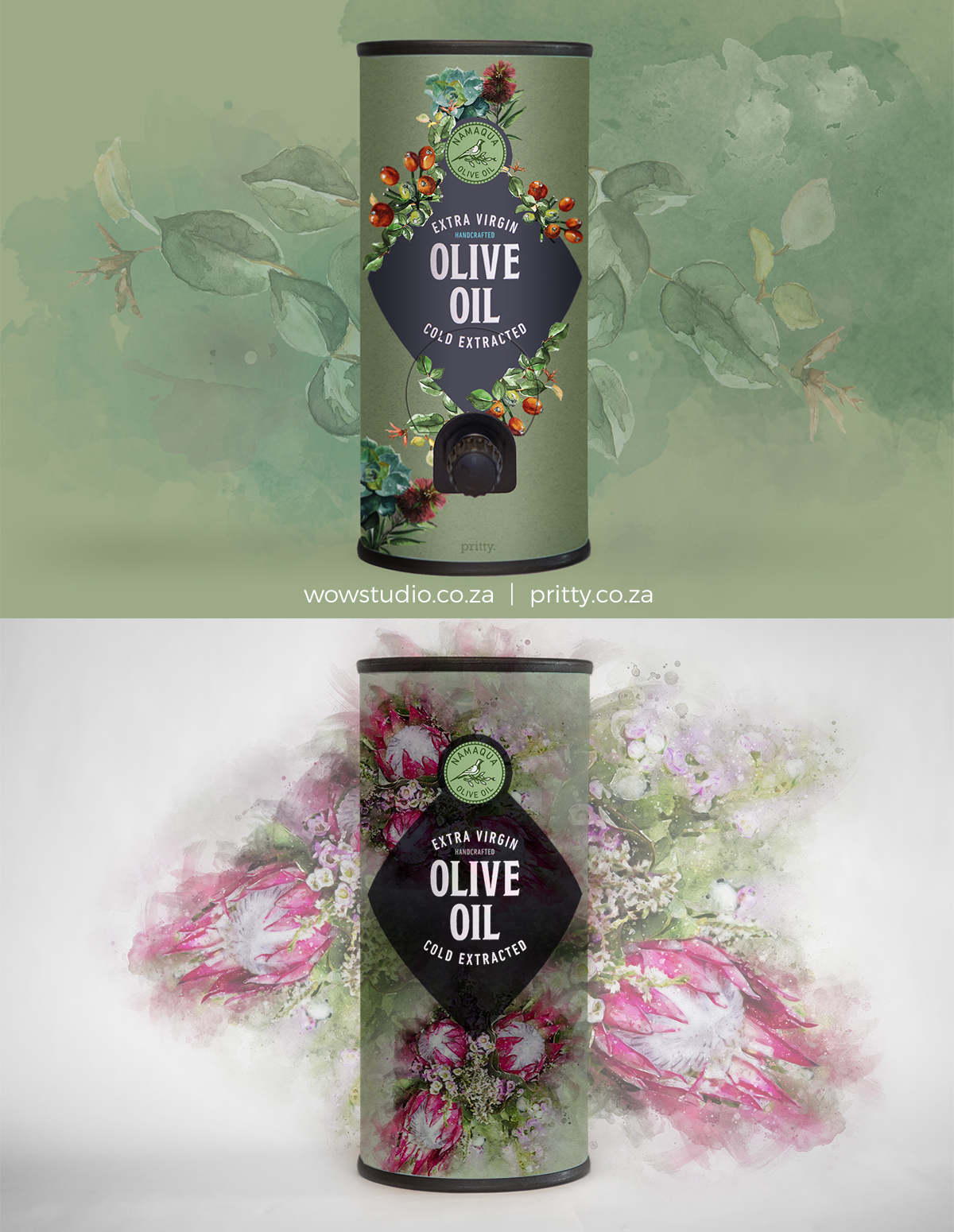 pritty olive oil decanters corporate gift