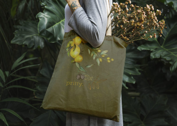 Tote Bag Pritty Fabric Art